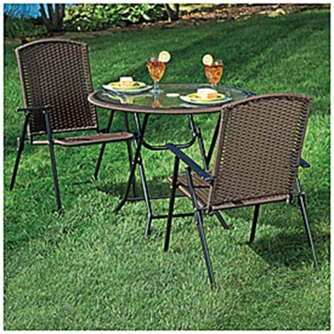 wilson and fisher wicker patio furniture view wilson fisher 174 resin wicker 3 folding dining