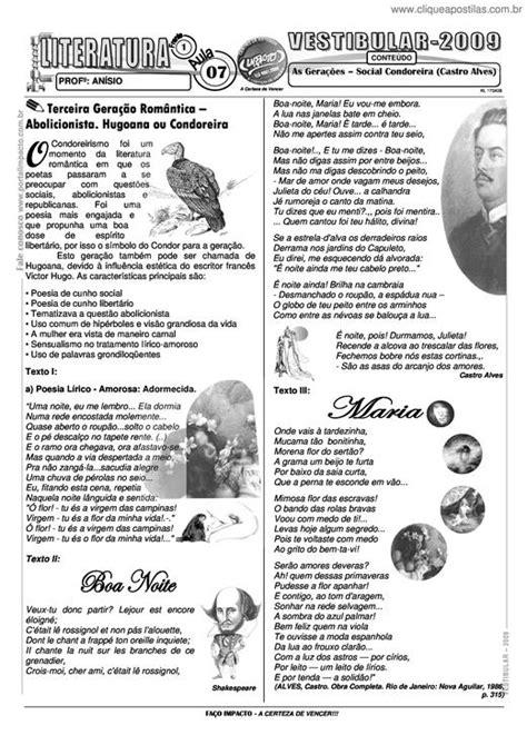 Clique Apostilas - As Gerações – Social Condoreira (Castro