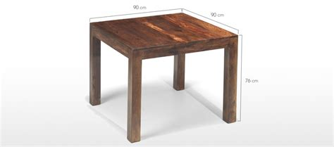 Dining Table Dimensions Cm Cube Sheesham 90 Cm Dining Table Quercus Living
