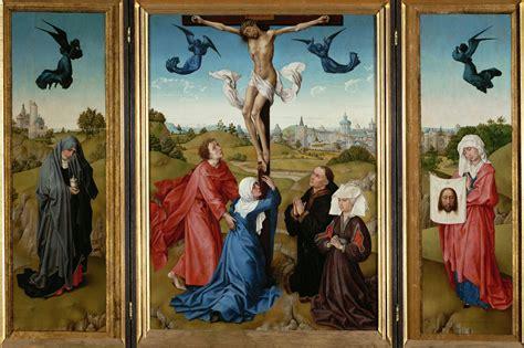rogier van der weyden triptych the crucifixion 1445