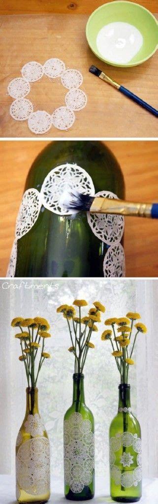 decoracion de botellas de vidrio vacias las 25 mejores ideas sobre centros de mesa de botellas de