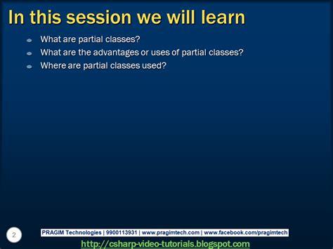 tutorial c classes sql server net and c video tutorial part 61 partial