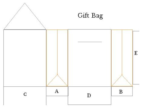 paperbag template gift bag template gifts