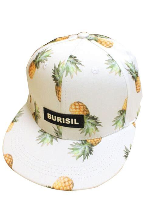 Topi Baseball Pink pink 174 pineapple snapback flat bill hats hip hop baseball cap white celebrate