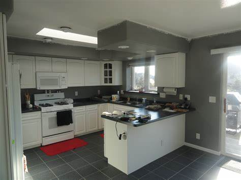 he kitchen, which is west facing and has a large sky light, seems to