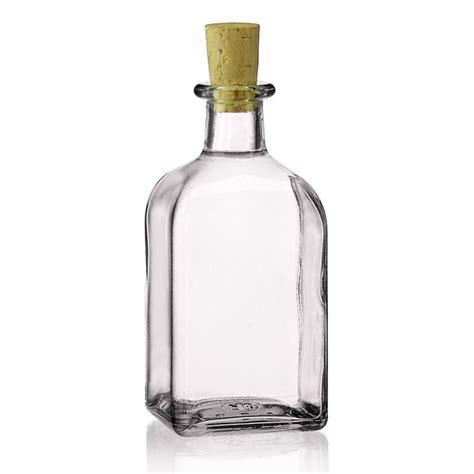 bottiglie e vasi di vetro 250ml bottiglia di vetro chiaro quadrina bottiglie e