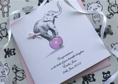 Handmade Christening Cards From Grandparents - personalised handmade new baby cards pinkandposh co