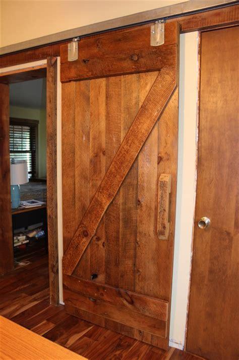 custom sliding barnwood door rustic interior doors