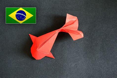 How To Make A Fish Out Of Paper Plate - origami peixe riccardo foschi instru 231 245 es em