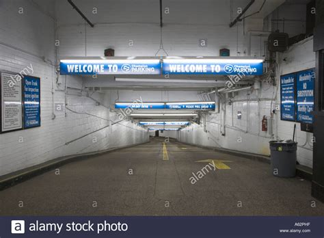 underground parking garage entrance to an underground parking garage in new york city