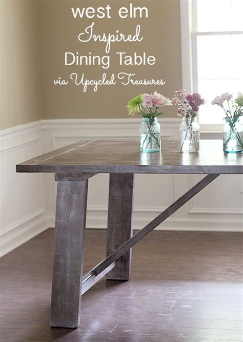 west elm inspired dining table mountain modern