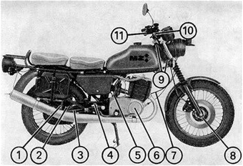 Motorrad Teile Erkl Rung by Bedienungsanleitung F 252 R Das Mz Motorrad Etz 250 A