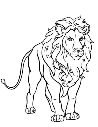 Lion Coloring Page Pdf | printable lion coloring page free pdf download at http