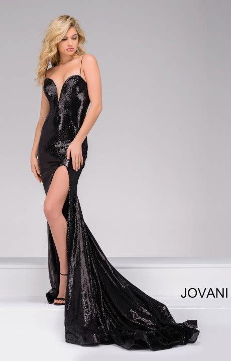 jovani  sequin  neck dress prom dress