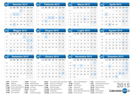 Calendario A Settimane 2015 Calendario 2015