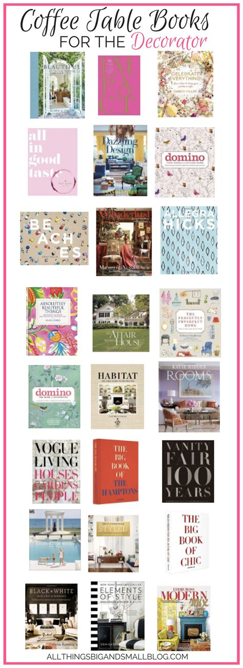 the must coffee table books to read and decorate your
