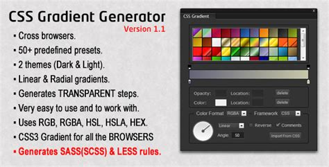 themes generator css css gradient generator theme for u