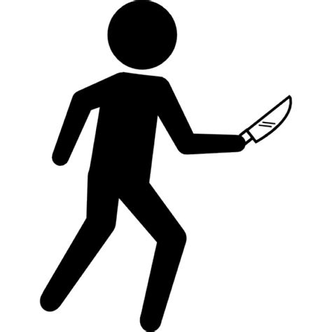 How To Check If You Got A Criminal Record Criminal Silhouette With A Knife Icons Free