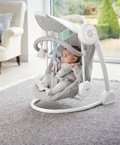 mamas and papas electric swing mamas papas starlite swings grey melange skroutz gr