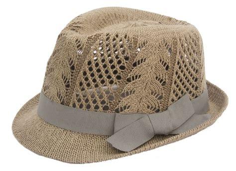 Fedorafashion Brindle Knit straw fedora hats boardwalk style