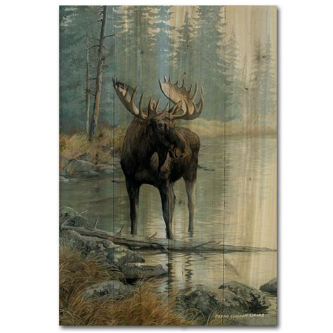 Moose Wall Decor by Moose Prints Wall