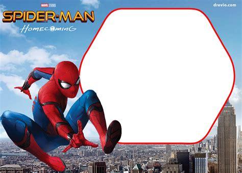 free spiderman homecoming invitation template drevio
