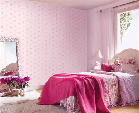 wallpaper for girls room 187 6 rooms decorated in one colour