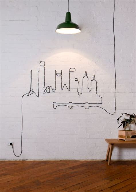 wire wall art home decor turn your unsightly wire cables and cords into wall art