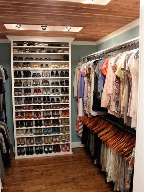walk in closet organization ideas i love the idea of a bookcase inside a small walk in