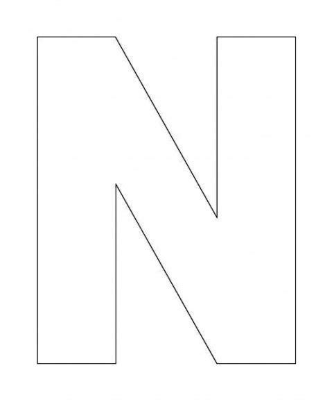 letter n template alphabet letter n template for abc crafts