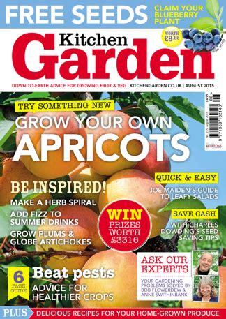Kitchen Magazines by Kitchen Garden Magazine Subscription 183 Magazine Cafe