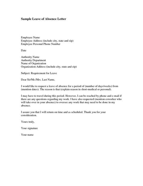 Request Letter Sle For Leave Of Absence 17 Best Ideas About Letter Of Absence On Book