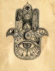 hamsa hand tattoo designs original on made wood panel hamsa design by