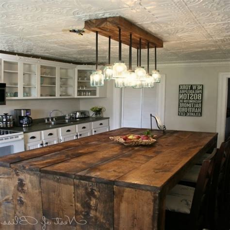inspiring rustic kitchen island lighting kitchen lighting