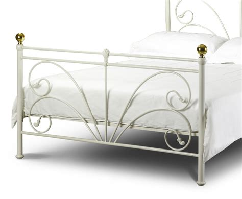 white metal bed frame cadiz off white metal bed frame