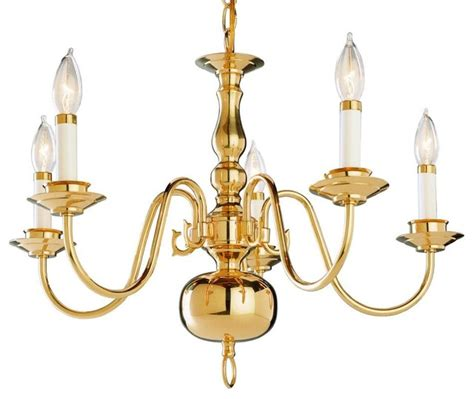 Lighting Chandeliers Traditional Five Light Polished Brass Up Chandelier Traditional Chandeliers By We Got Lites