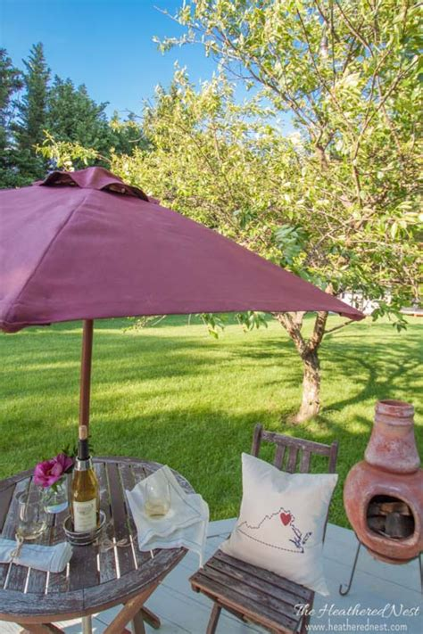 Diy Patio Umbrella Remodelaholic Friday Favorites Scalloped Centerpiece And An Outdoor Bench
