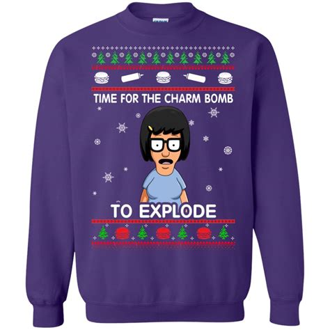 Sweater Hiking Time bob s burgers time for the charm bomb to explode