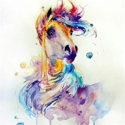 watercolor tattoo horse water coulor paimtngs water colour water