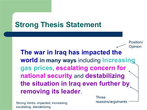 strong thesis statement exles creating strong thesis statements