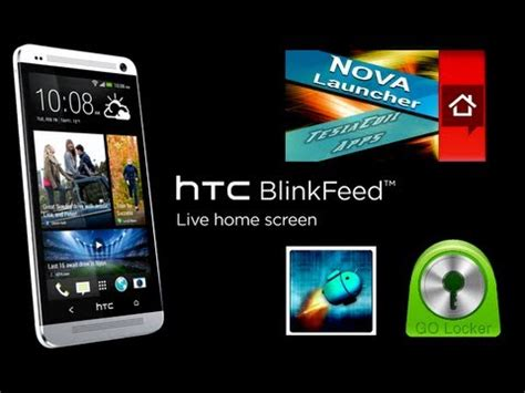 htc themes for nova launcher htc one combined nova launcher blinkfeed setup youtube