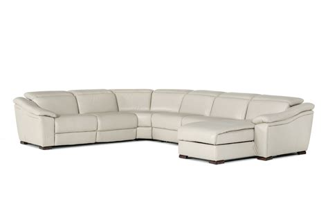 6 piece sectional sofa leather 6 piece jasper light grey leather sectional