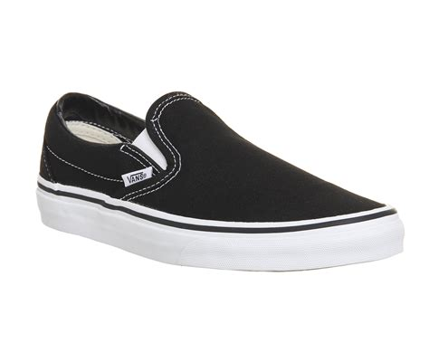 Vans Slipon vans classic slip on trainers black white unisex sports