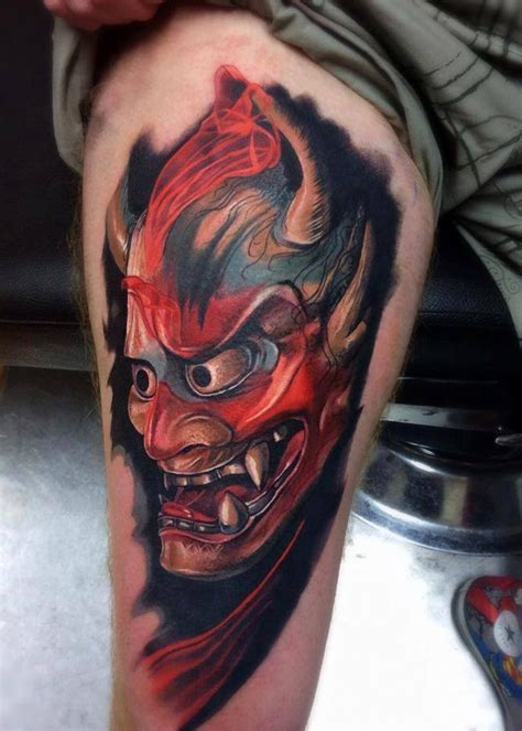 red hannya mask tattoo designs hannya mask tattoo best tattoo ideas designs