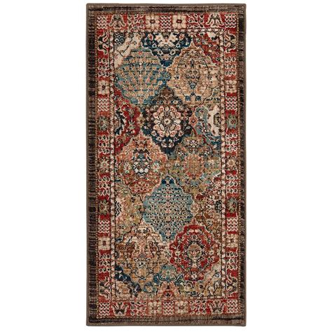 mohawk home accent rug collection mohawk home patchwork medallion multi 2 ft x 4 ft accent
