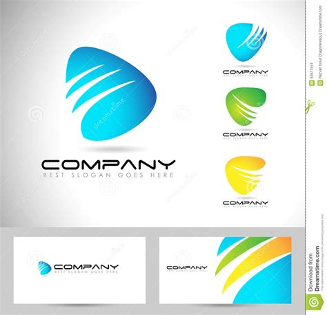 corporate logo templates abstract corporate logo design stock vector image 64511541