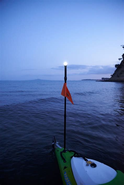 kayak lights for night fishing viking kayaks nz be seen on the water at night with