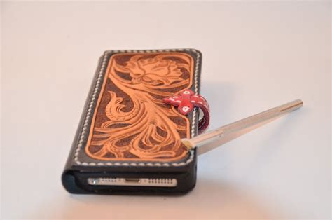 Handmade Iphone Covers - handmade all made leather iphone 5 by