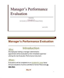 Manager Evaluation Template by Self Evaluation 9 Free Sle Exle Format Free