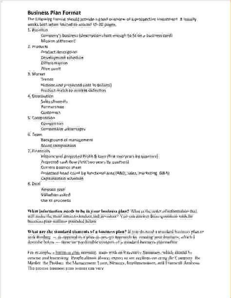 view a sample beverage business plan outline capital west